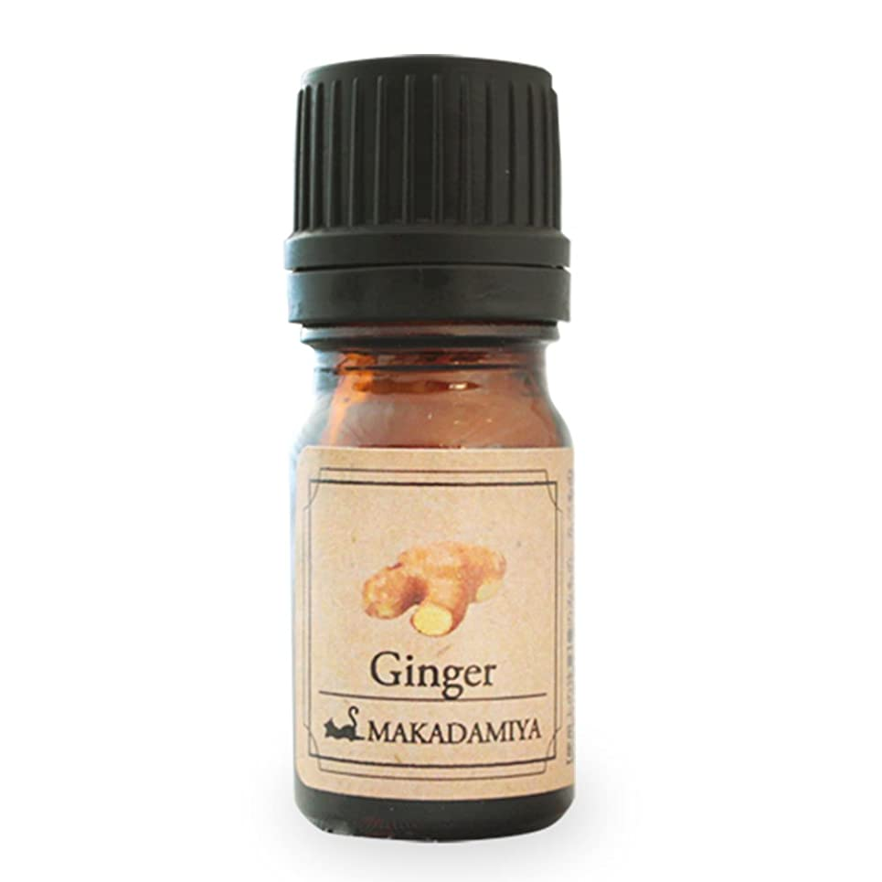 ストレスの多い道路人に関する限りジンジャー5ml 天然100%植物性 エッセンシャルオイル(精油) アロマオイル アロママッサージ aroma Ginger