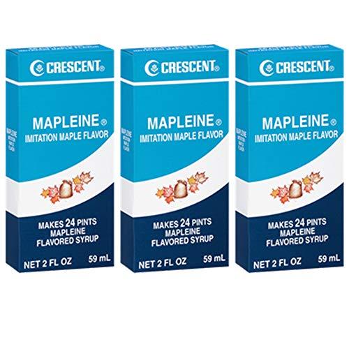 Crescent Mapleine Imitation Maple Flavoring 2oz Bottle (Pack of 3)
