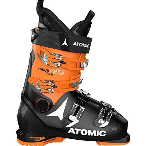 ATOMIC HAWX Prime R100, Botas de esquí Unisex Adulto, Black/Orange, 46.5 EU