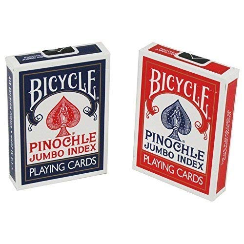 Bicycle Pinochle Playing Cards Jumbo Index 2 Decks