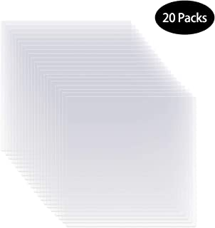 20 Pieces 6 mil 12 x 12 inch Blank Stencil Transparent Material Mylar Template Sheets for Stencils