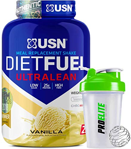 USN Meal Replacement Shake Diet Fuel Ultralean Protein 2KG Weight Loss Powder + Shaker (Vanilla)