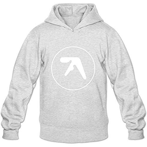 BAODING Men's Aphex Twin Hoodie Shirt Ash