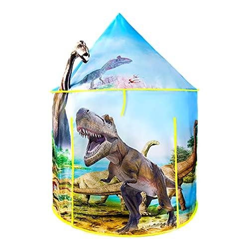 besrey Tenda Per Bambini da Gioco Castello 3d Dinosauro Casetta De Giochi Per Interni Esterni Con Borsa Da Trasporto Pieghevole Regalo Per Ragazzi Ragazze