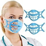 AYGXU 3D Mask Bracket -Silicone Face Mask Bracket-3D Mask Bracket Inner Support Frame for More Breathing Space,Keep Fabric off Mouth,Reusable&Washable,Cool Lipstick Protection Stand (2-Sky blue)