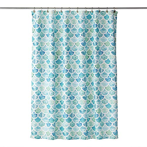 SKL HOME by Saturday Knight Ltd. - W0059500201001 SKL Home by Saturday Knight Ltd. Ocean Watercolor Scales Shower Curtain, Multicolored, 70x72