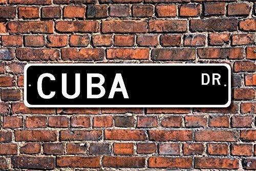 Metall Straßenschild Pfosten Kuba Schild Wanddeko Kuba Geschenk Kuba Souvenir Schild Kuba Souvenir Kuba Kuba Kuba Schild 40,6 x 10,2 cm