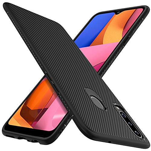 C'iBetter für Samsung Galaxy A20s Hülle, Stylisch Design Silikon Hülle Abdeckung Handy Hülle Handyhülle Schutzhülle Shock Absorption Hülle passt für Samsung Galaxy A20s Smartphone, Schwarz