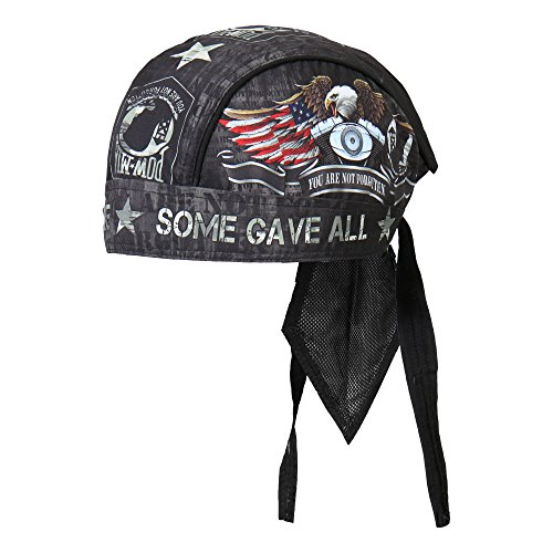 Hot Leathers - HWH1055 Never Forgotten Head Wrap (Black)