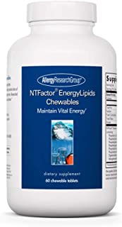 Allergy Research Group - NTFactor EnergyLipids - Phospholipids - Energy Support - 60 Chewable Wafers