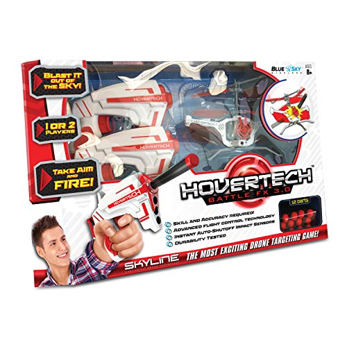 powerful Blue Sky Wireless HoverTech FX Drone Target Game, Red