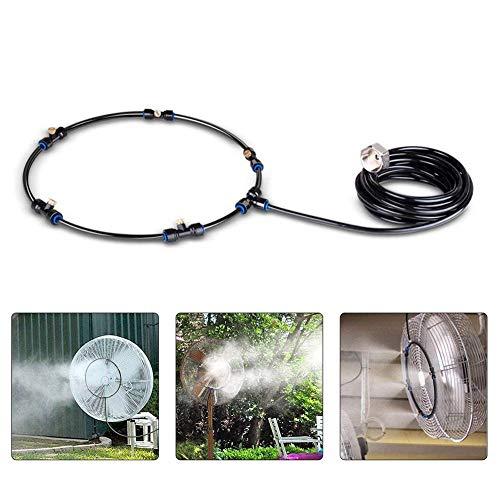 Nebulizadores, Sistema De Enfriamiento De Nebulización De Nebulización Exterior Ventilador De Riego De Agua Kit De Nebulizador Con Boquillas De Neblina De Latón Adaptador