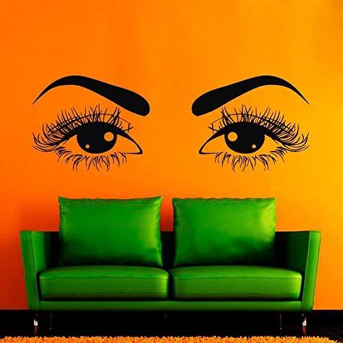 Muurstickers Kappers Haar Schoonheid Salon Decal Vinyl Sticker Perfect Vrouw Gezicht Home Decor Raam Decals Dorm Woonkamer51*145cm