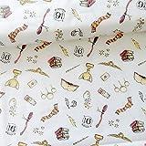 Harry Potter Baumwollstoff, Softwash, magische Logos, 50