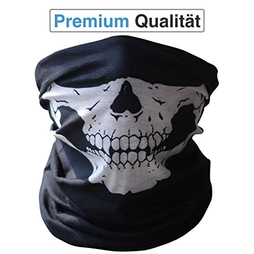 Foulard multifunzione premium | Passamontagna | Bandana | Scaldacollo con teschio maschere scheletrate per moto, bicicletta, sci, paintball, gamer Skull Mask