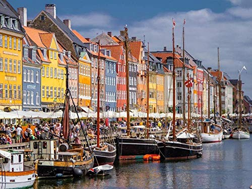 Adult Jigsaw Puzzles 1000 Piece,Copenhagen Denmark,Very Challenging Adult and Teen Casual Jigsaw Puzzle