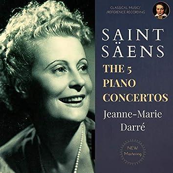 Saint-Säens: The 5 Piano Concertos by Jeanne-Marie Darré