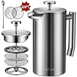 Best French Presses - Veken French Press Double-Wall 18/10 Stainless Steel Coffee Review