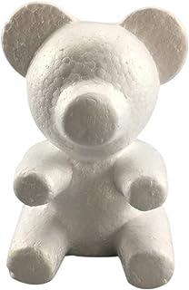 Giytoo Mousse de polystyrène blanche en forme d'ourson - Cadeau idéal pour la Saint Valentin, une fête