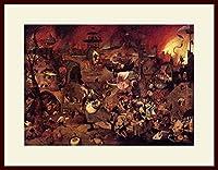 ブリューゲル・「悪女フリート」 プリキャンバス複製画・ 額付き(デッサン額/大衣サイズ/セピア色)