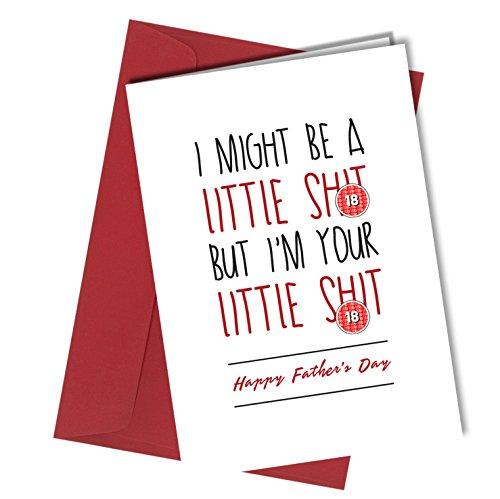 #610 Vatertag Glückwunschkarte Little Sh*t Adult Humor Love Funny Rude