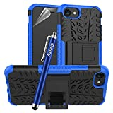 iCatchy For iPhone SE 2020 Case, Heavy Duty Hard Tough Dual Layer Hybrid Shockproof Cover compatible For iPhone SE 2020 Phone Case (Blue)