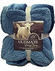 Hanacat 毛布 ひざ掛け 掛け毛布 2枚合わせ シープ調 ボア あったか ブランケット 洗える