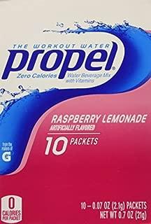 Gatorade Propel Powder Sticks Raspberry Lemonade, 10-count (Pack of 6)