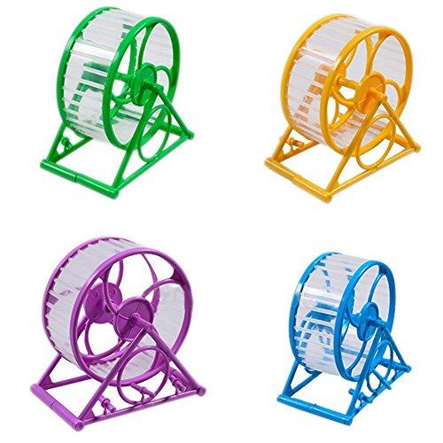 LA VIE Rueda Hámster Silenciosa Antideslizante Estable Rueda de Ejercicio para Hámster Chinchilla Jerbo Raton Accesorios Juguete para Animales Pequeños Pet Toy Wheel Diámetro de 12.5cm
