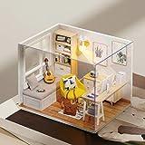 Fangteke Casa de muñecas en miniatura con muebles, kit de casa de muñecas de bricolaje, habitación de ensueño para niñas, juguetes hechos a mano, idea de habitación creativa a escala 1:32