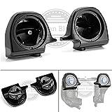 Moto Onfire Vivid Black 6.5 inch Speaker Pods for 1983-2013 Harley Lower Vented Pre-Rushmore Fairings