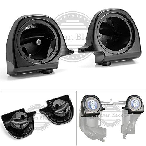 Advanblack Vivid Black 6.5 inch Speaker Pods for 1983-2013 Harley Lower Vented Pre-Rushmore Fairings