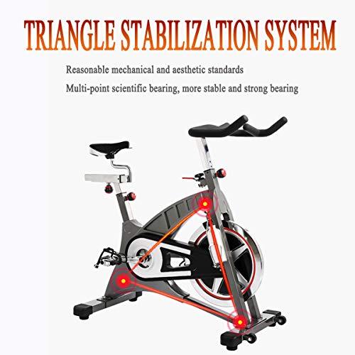 NXX Bicicleta Estática con Sensores De Pulso De Mano,Transmisión por Correa, Volante De Inercia 20 Kg, Monitor LCD, Adultos Unisex,(1260×550×1220Mm)