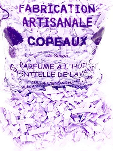 MGI DEVELOPPEMENT Copeaux de Savon de Marseille - lessive au Savon de Marseille - Fabrication Artisanale (750g Parfum Lavande)