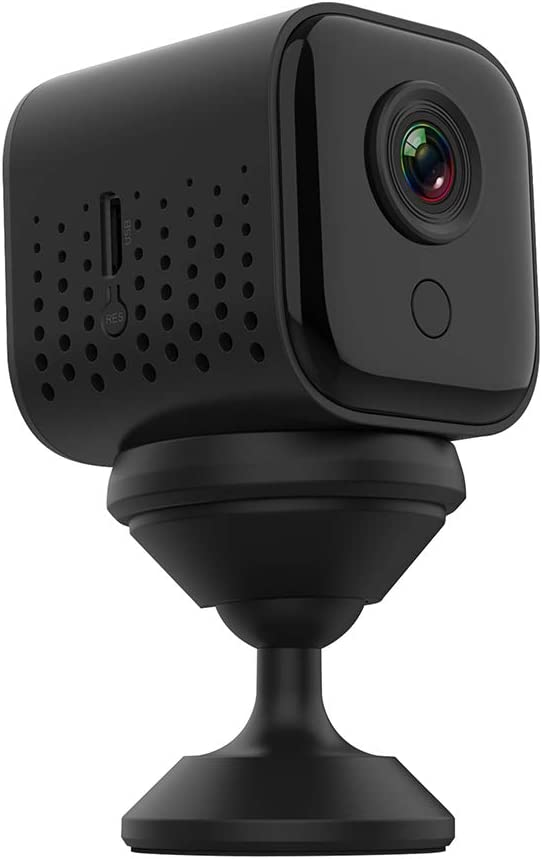 Mini Wireless WiFi Camera ,DEXILIO 1080P Small Home Security Surveillance Cameras,Portable Tiny Nanny Cam Built-in Battery with Night Vision/Motion Detection for Indoor and Outdoor (with 32G Card)