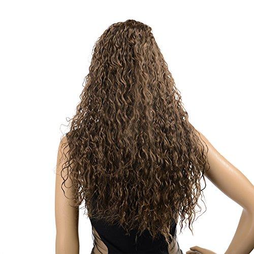 Dayiss® Femmes Cheveux frisés synthétique Curly Longue Perruques perruques cosplay perruques de carnaval, comme vrai cheveux(Brun foncé)