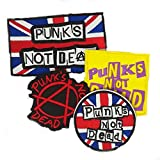 Set of 4 Punks Not Dead Sew On Patches, Various, Multicoloured, Various