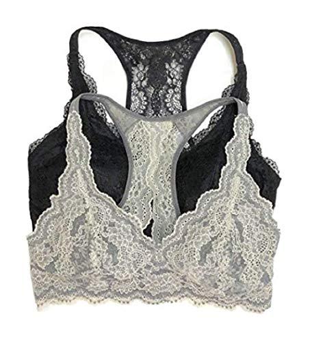 Ladies' Lace Bralette, 2-Pack Medium
