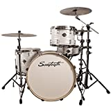 Sawtooth Command Series 4-Piece Shell Pack with 24' Bass Drum, White Oyster, (ST-COM-4PC-24-WO)