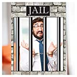 Jail Bars Selfie Party Photo Booth Frame Size 36 x 24 inches Behind Bars, Jails Sign Wanted Selife Frame, Murder Party, Prison Bars, Captured Mug Shot, Prohibition, DIY Party Supply Photo Booth Props