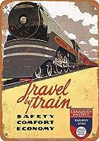 ブリキ看板1937カナダ太平洋鉄道グッズ壁アート