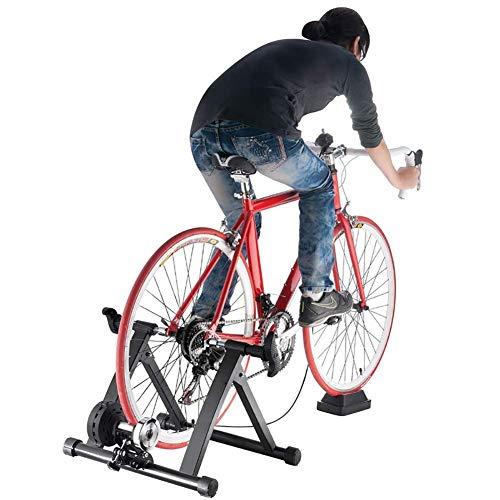 TGSC Tragbarer Indoor-Trainer W Magnetische Schwungrad-Geräuschreduzierung Stationäre Übung für Renn-Mountainbikes Schwarz
