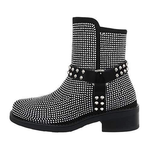 Ital-Design - Botines para mujer, color Negro, talla 40 EU (Ropa)