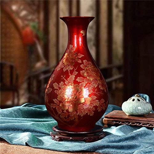 Vaas decoratie Jingdezhen Chinese keramiek rode vaas Bruiloft Decoratie porseleinen vaas Gift, 2,5 (Color : 2)