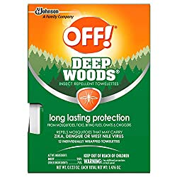 professional Out! Deepwoods mosquito and bug wipes, durable wipes, individually packed, 12 …