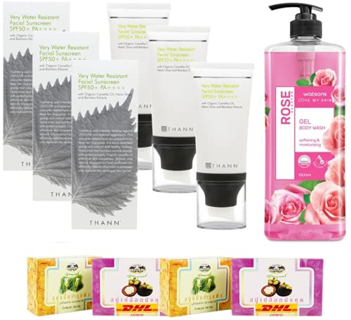 Set A98 Very Water Resistant Facial Sunscreen SPF50+ Watsons Rose Scented Gel Body Wash DHL EXPRESS By Thaigiftshop [Get Free Tomato Facial Mask]