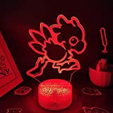 FDJHG - Lámpara de lava, 3D, LED, ideal como regalo para amigos o para la sala de juegos, decoración colorida