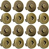 Onwon 20 Set Magnetic Snaps for Purse Magnetic Bag Fastener Clasp Magnetic Button Replacement Kit Perfect for Purse, Bag, Clothes, Leather (Antique Brass 18mm)
