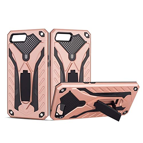 MyCase for Oppo K1 Shockproof Dual Layer 2-in-1 Armor PC+TPU Protective Hard Stand Case (Color : Rose Gold)