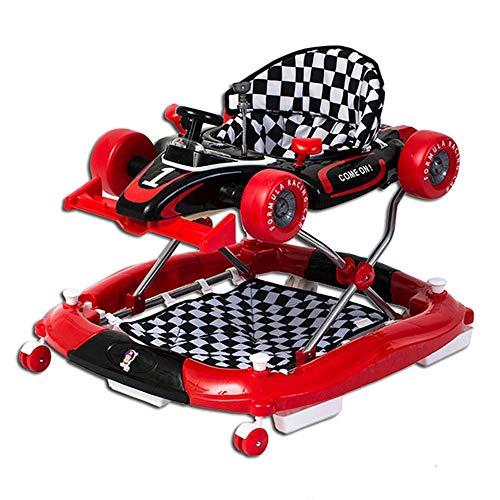 Sdzq Anti-Rollover-Multifunktionslauflernwagen Faltbarer Kinderwagen Für Kleinkinder Kinderlauflernwagen (Color : Red)